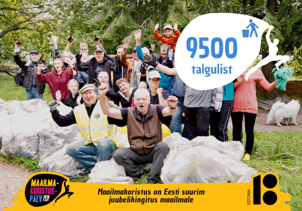 Maailmakoristuspäeval käis Eestis loodust koristamas üle 10000 inimese